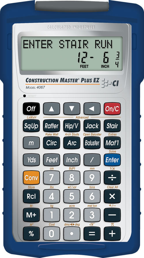 Calculated Industries 4067 Construction Master Plus EZ Construction-Math Prompti