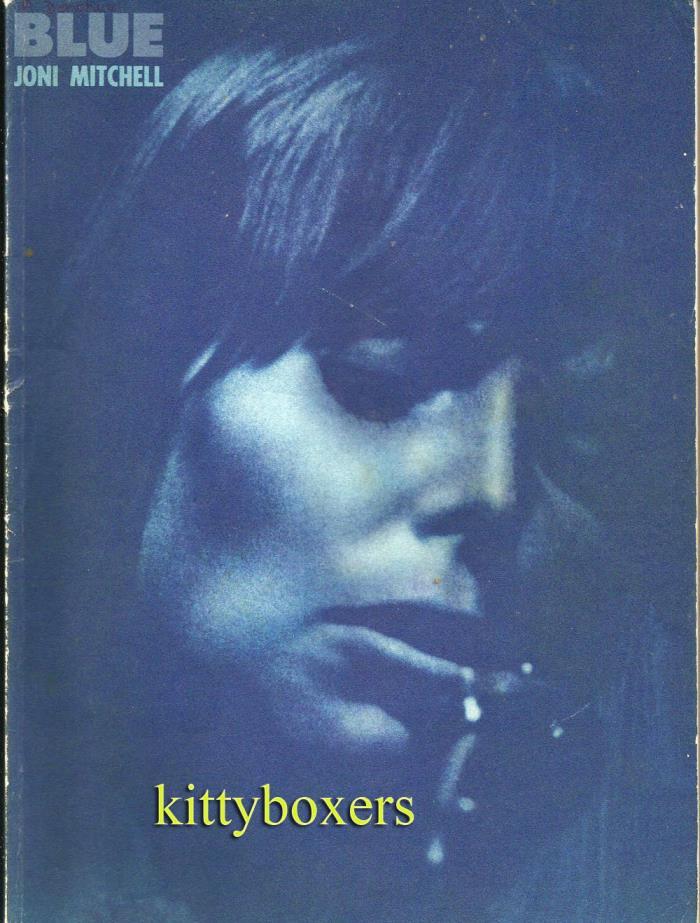 JONI MITCHELL BLUE Songbook Sheet Music Piano Vocal Organ 10 Songs 1971 Photos!