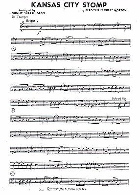Kansas City Stomp Dixieland Jazz Combo Arrangement Sheet Music