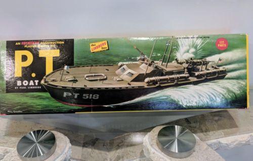 P. T. Boat Lindberg Line 1st Ed Partial Model Kit w/ Box Vintage Original PT 518