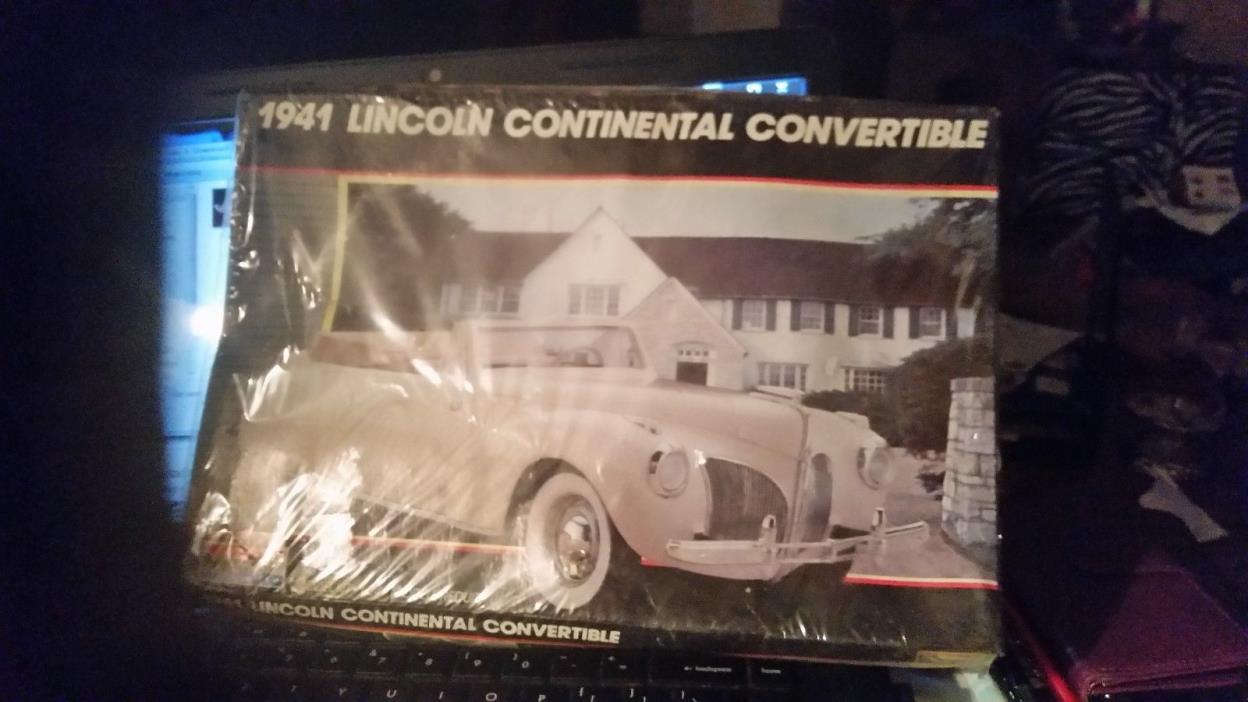 Monogram 1941 Lincoln Continental Convertible-FS 1/24 Scale-Model Car Swap