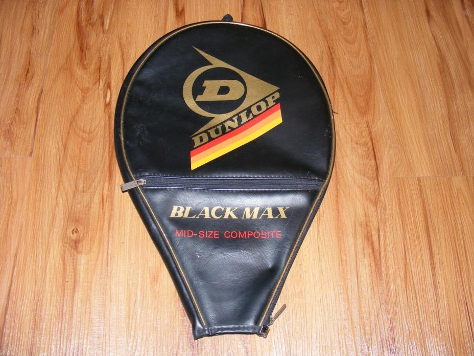 VINTAGE DUNLOP BLACK MAX TENNIS RACKET HEAD COVER  FREE SHIPPING