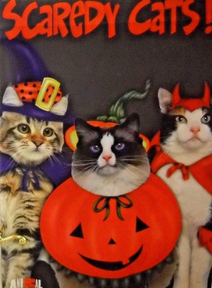 ** Halloween Scaredy Cats ** Large Fall Flag