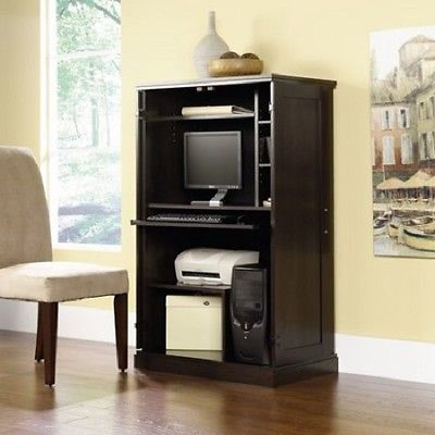Computer Furniture Desk Laptop Armoire Storage Equipment Office Home Student Set