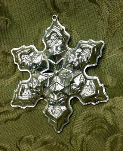 1975 Gorham Sterling Silver Christmas Snowflake Ornament