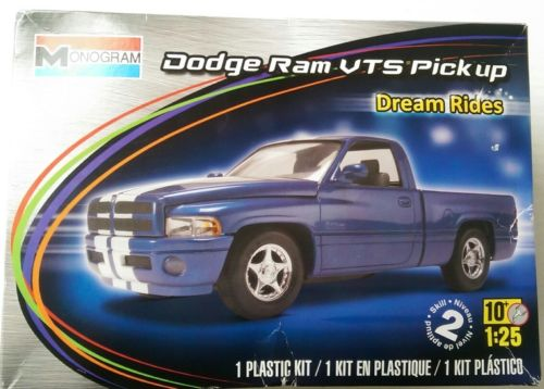Dodge Ram VTS Pickup Truck Monogram Dream Rides 1:25 Model Kit *Read Descript*