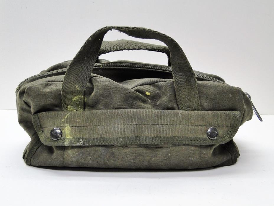 Mechanics Tool Bag Heavy Weight Canvas - Military Mini Duffle Tool Army Green
