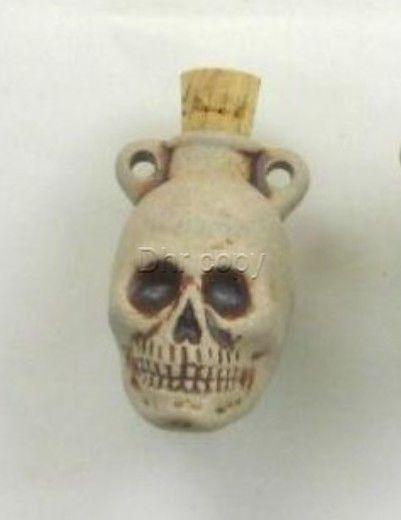 Ceramic Pottery Bottle or Vessel, High Fire Skull Design