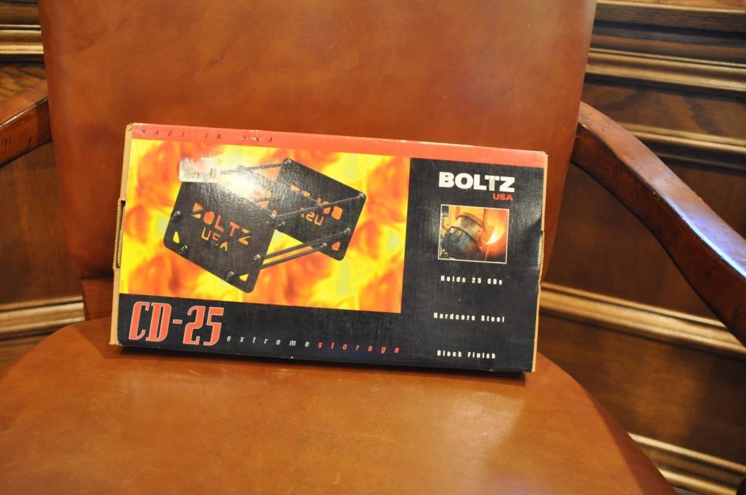 BOLTZ USA CD-25 Black CD Holder New!