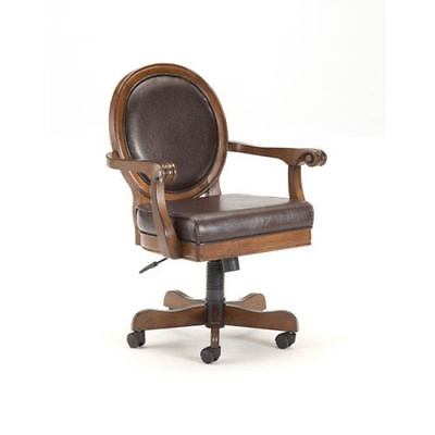 251 First Wellington Rich Cherry Round Back Game Chair - 197699-1973701-251