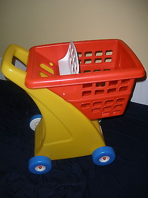 Little Tikes Shopping Food Cart Red Grocery Store Basket Pretend Toddler Play