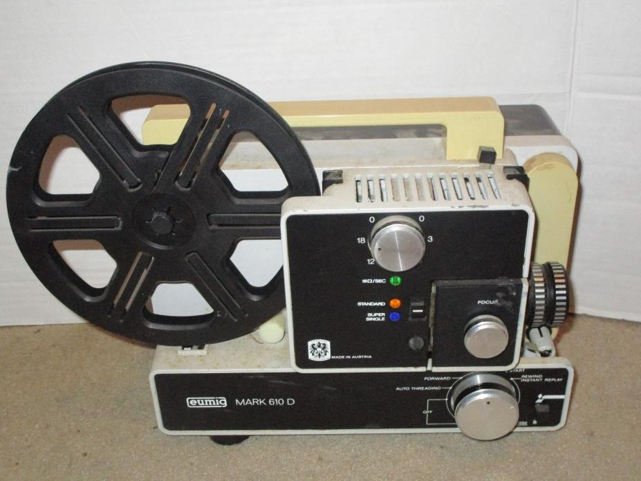VINTAGE EUMIG MARK 610 D PROJECTOR MADE IN AUSTRIA USED PARTS REPAIRS 8MM FILM