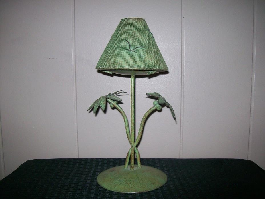 Palm Tree Shaded Tealight Candle Holder/Lamp