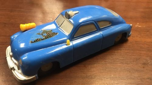 Vintage 1950's Saunders tool and die Co.made in USA IL, rare POLICE car