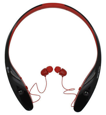 LG Tone Infinim HBS-900 Bluetooth Headset Harmon Kardon Sound - Red