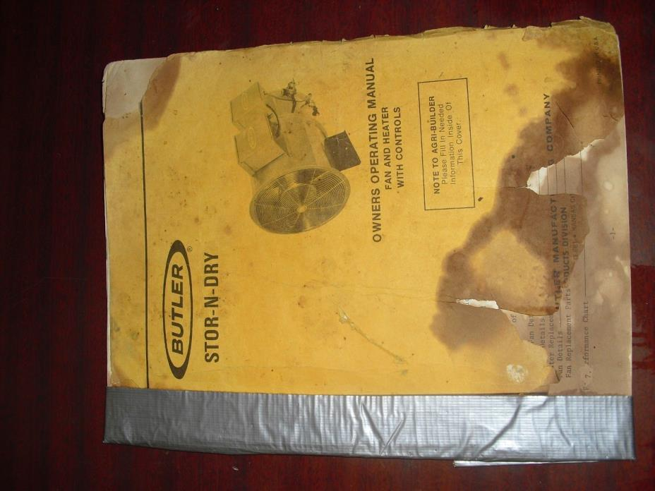 butler stor n dry stor-n-dry owners operator manual butler manufacturing company