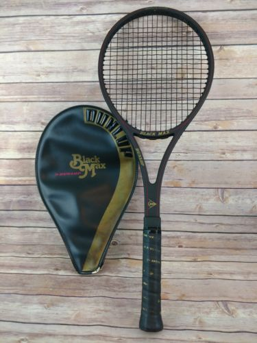 Vintage DUNLOP BLACK MAX Tennis Racket L2 L4 1/4 Graphite/Glass Composite VGC