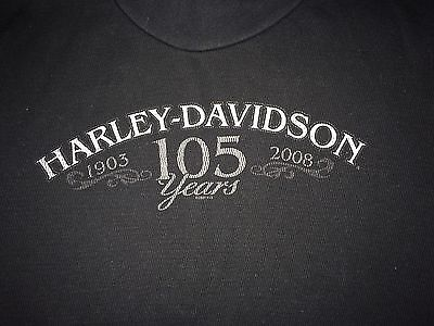 Harley-Davidson Boys Youth Sweater Medium 105th Anniversary Black Long Sleeves