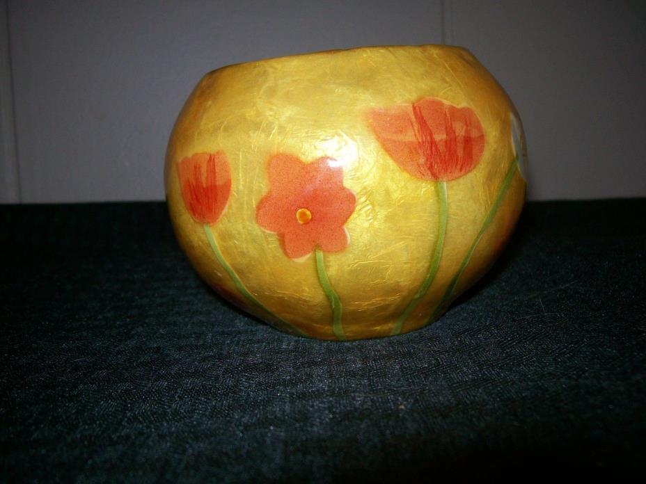 Decoupage Candle Holder Lantern Tulips Decorative
