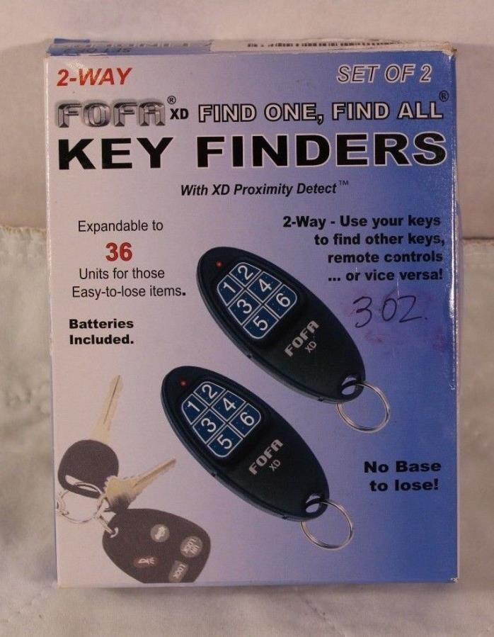 2-Way RF FOFA Find One Find All Key Finder and Flat Wallet, Cell Phone New