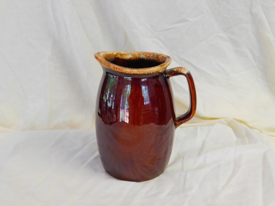 Vintage Hull Pottery Brown Drip 1 Quart Pitcher