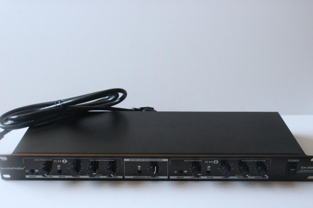 Marathon Ex-200 Multiband Sound Enhancement Processor Great Shape Free Shipping!