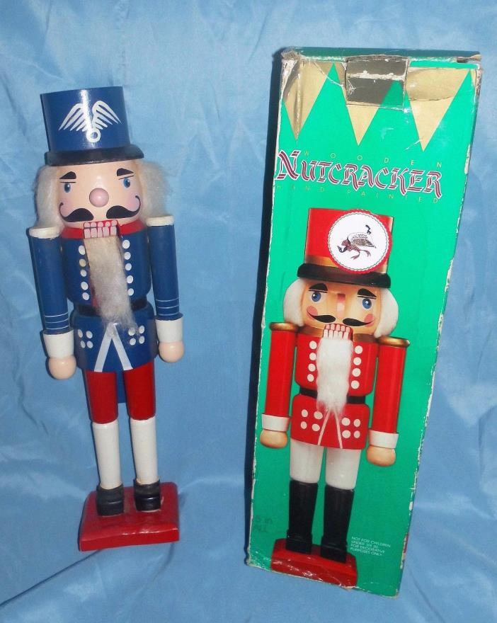 Tall Vintage WOODEN Nutcracker Figurine fy Home Interior