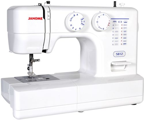 Janome Easy-to-Use 5812 Sewing Machine With Top Drop-In Bobbin System