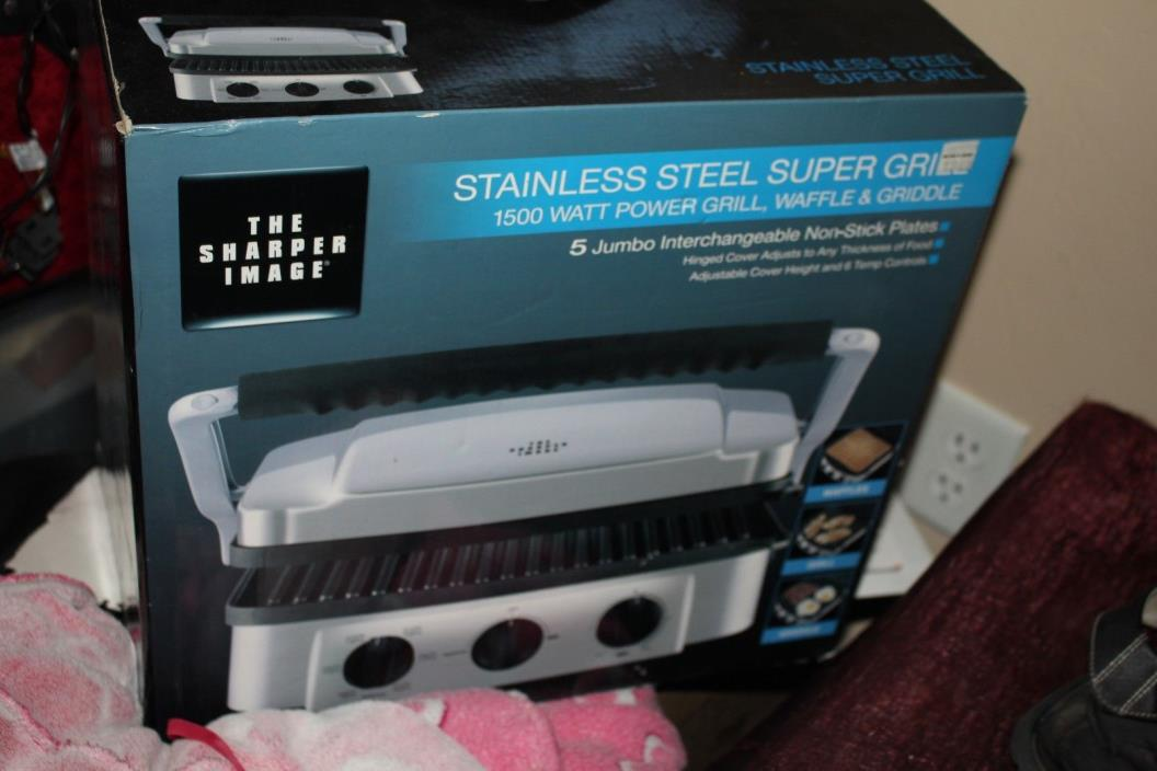 The Sharper Image Stainless Steel Super Grill - electric bbq new in box