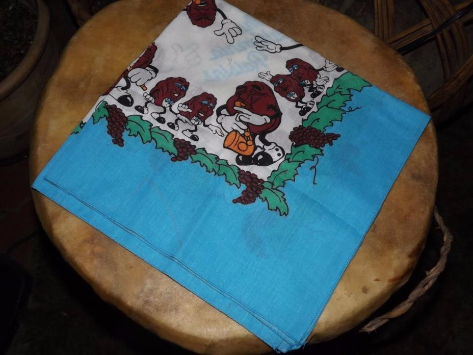 Vintage California Raisins Characters Sax Player Scarf Bandanna Never Used