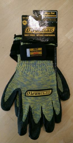 IRONCLAD Cut Resistant Max Gloves, XL-NEW-FREE SHIPPING
