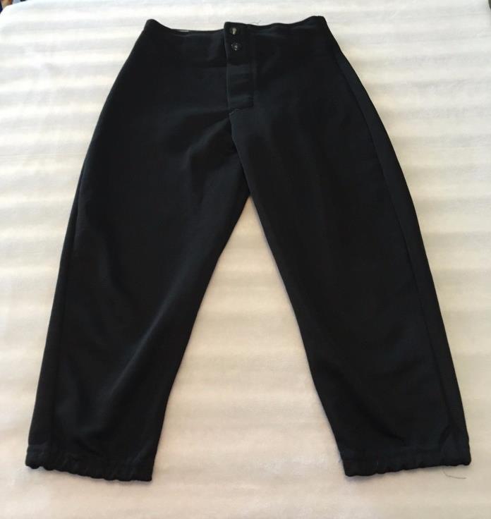 DA DON ALLESON YOUTH BASEBALL PANTS - BLACK - SIZE SMALL
