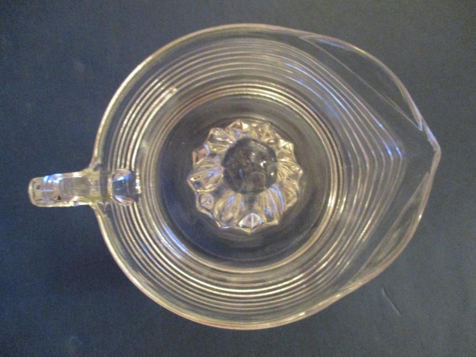 2  Vintage Clear Pressed Glass Juicer  7 1/2