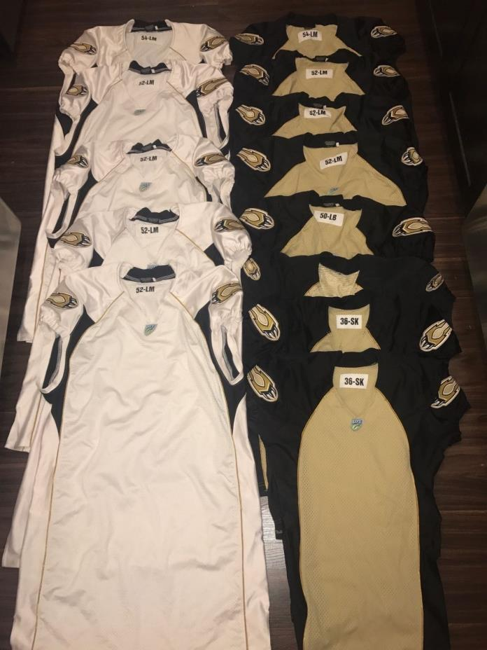 9 SACRAMENTO MOUNTAIN LIONS UFL TEAM ISSUED GAME USED WORN FOOTBALL JERSEY LOT