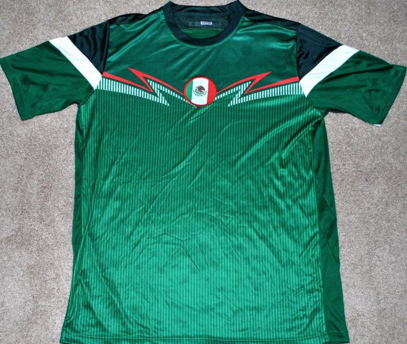 MEXICO MENS SOCCER FUTBOL JERSEY FIFA WORLD CUP MED, LG & XL NEW! TRIKOT READ AD