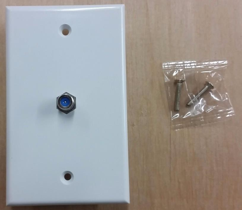 LOT 25 WHITE/IVORY COAXIAL WALL PLATE SINGLE OUTLET F81 CONNECTOR 3 GHZ ANTRONIX