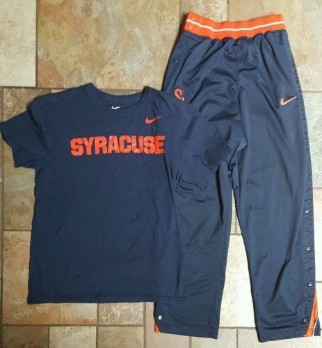 Men's Nike Team Syracuse University lot Small Warm-up Breakaway Pants, med shirt