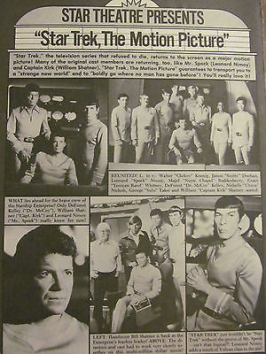 Star Trek, Leonard Nimoy, William Shatner, Full Page Vintage Clipping