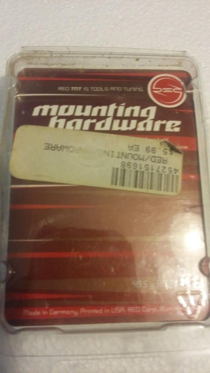 Snowboard Binding Hardware  Red TNT Set of 8