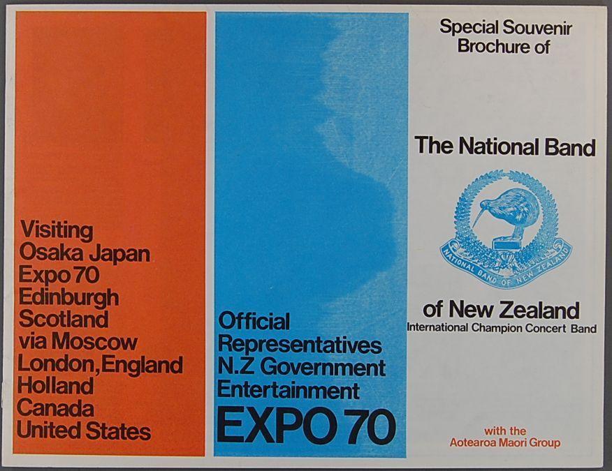 1970 NATIONAL BAND OF NEW ZEALAND Program Columbus OHIO