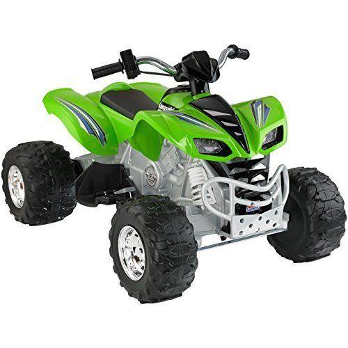12V Electric Power Vehicle Kids Ride On ATV Power Wheels Kawasaki Children Toys