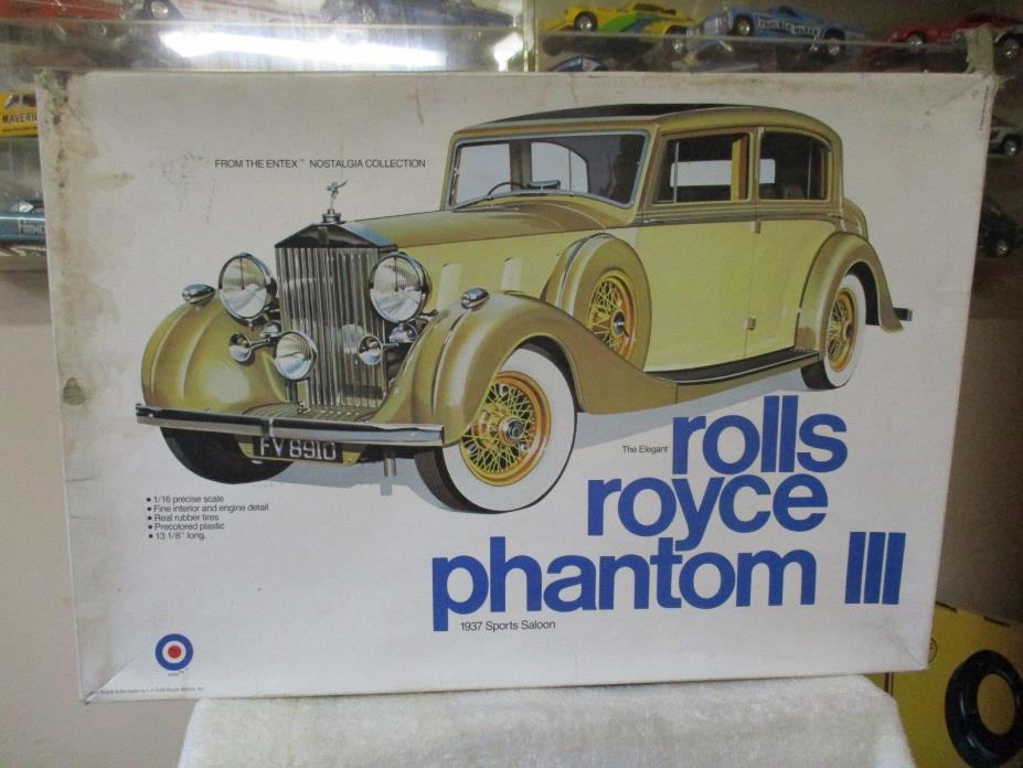 ENTEX 1/16 Scale Model Car Kit Rolls Royce Phatom lll # 9000