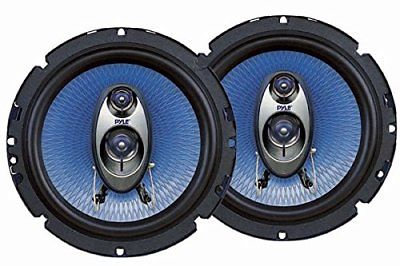 Pyle 6.5'' Three Way Sound Speaker System Round Shaped Pro Full Range Triaxial