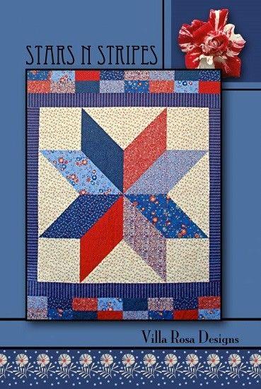 Stars N Stripes Quilt Pattern Card