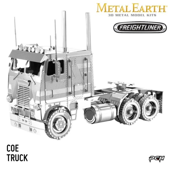 Metal Earth Freightliner Coe Truck 3D Metal Model Kits