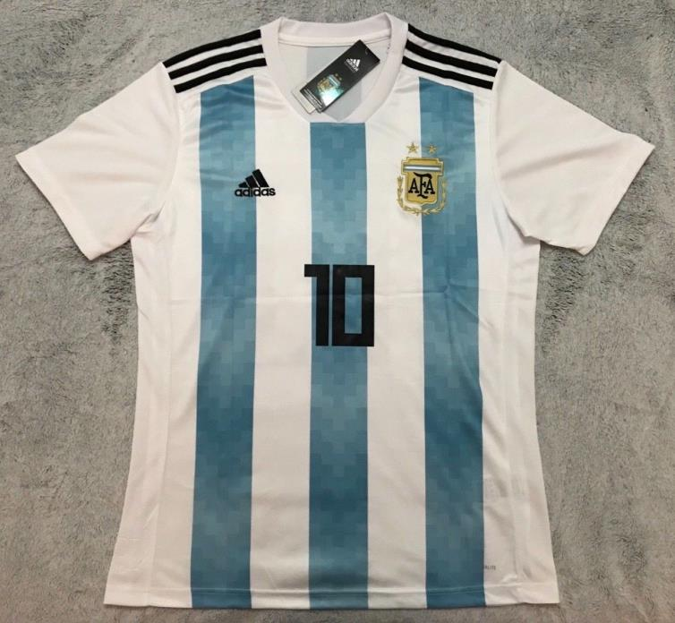 Lionel Messi Argentina National Soccer Team New Men's Home Jersey - Size L