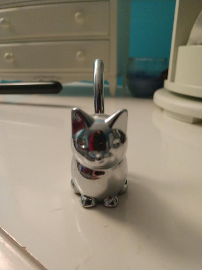 silver cat/kitten ring holder