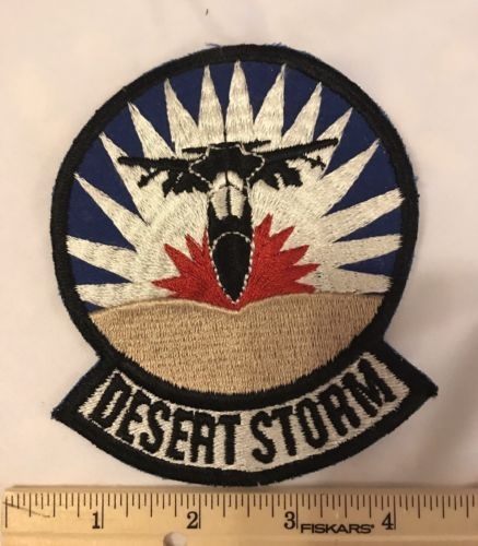 DESERT STORM F-11 BOMBER AIRCRAFT EMBROIDERED IRON ON PATCH*4.75