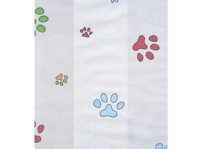 50 Dog Cat Rainbow Paws Print 4x9 Cello Cellophane Holiday Goodie Treat Bags