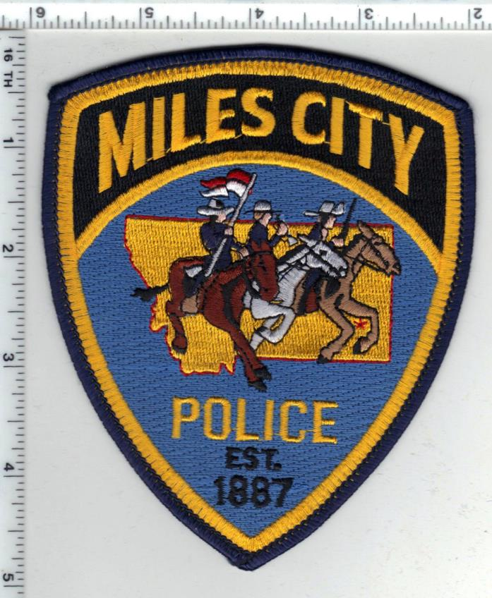 Miles City Police (Montana) Shoulder Patch - new from the 1980's